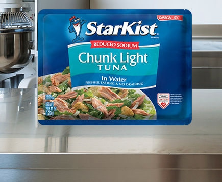 Reduced Sodium Chunk Light Tuna in Water (43 oz. Pouch)
