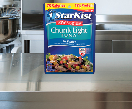 Low Sodium Chunk Light Tuna in Water (Pouch)