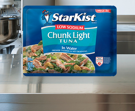 Low Sodium Chunk Light Tuna in Water (43 oz. Pouch)