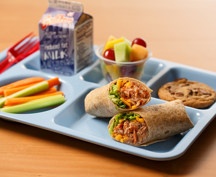 Barbecue Tuna Wraps
