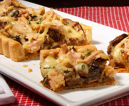 Caramelized Onion and Mushroom Tuna Tart