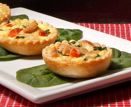Holiday Tuna Mini Quiches