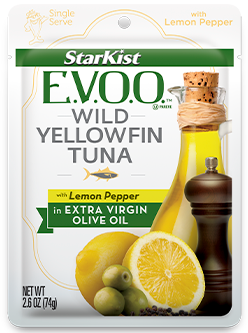 NEW! StarKist E.V.O.O.™ Yellowfin Tuna with Lemon Pepper