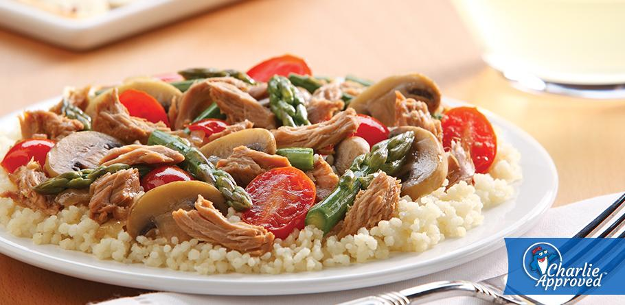 Balsamic Tuna and Vegetables