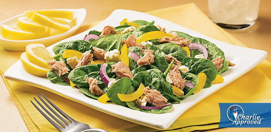 Lemon Tuna and Spinach Salad