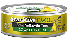 StarKist E.V.O.O.® Solid Yellowfin Tuna in Extra Virgin Olive Oil
